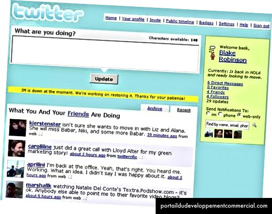Twitter vers 2007