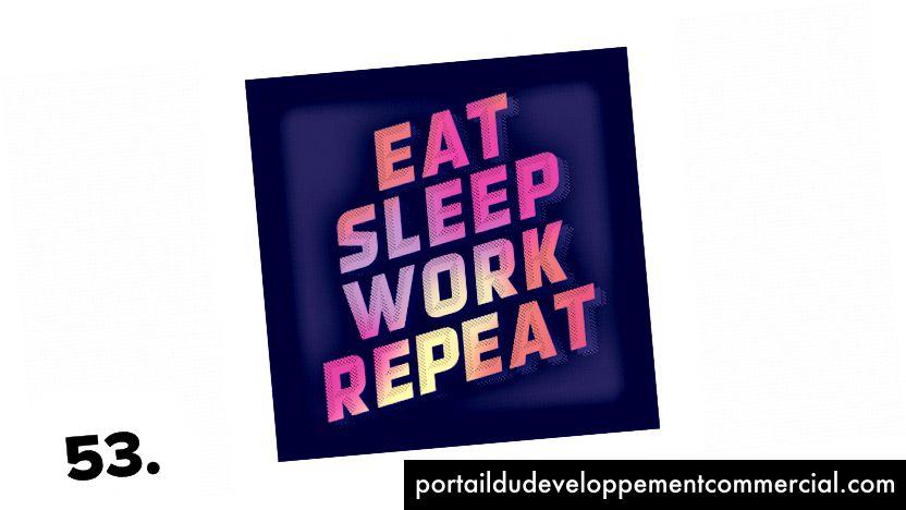 Manger sommeil travail répéter