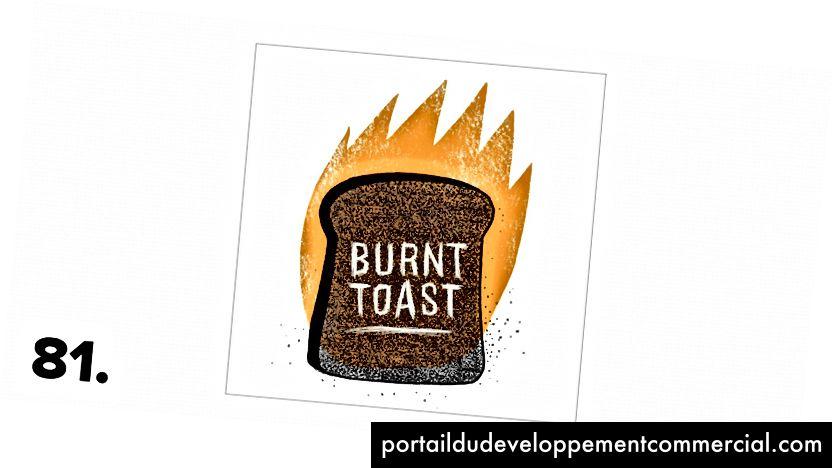 Toast brûlé