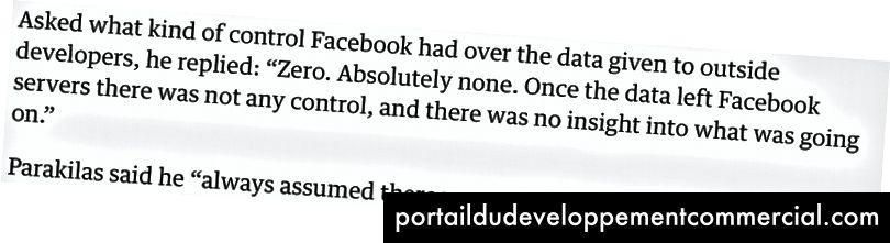 फेसबुक व्हिसलब्लोअर सैंडी परकिलों के गार्जियन साक्षात्कार से लिया गया