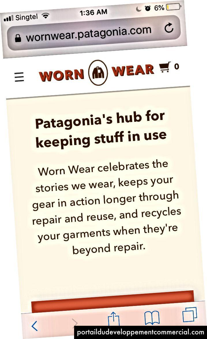 Worn Wear, l'un des engagements de Patagonia en faveur de l'environnement!