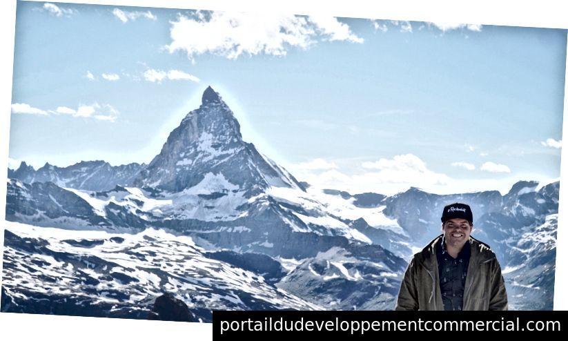 लेखक रिची नॉर्टन स्विट्जरलैंड में मैटरहॉर्न में (फ्री लाइफस्टाइल गाइड)