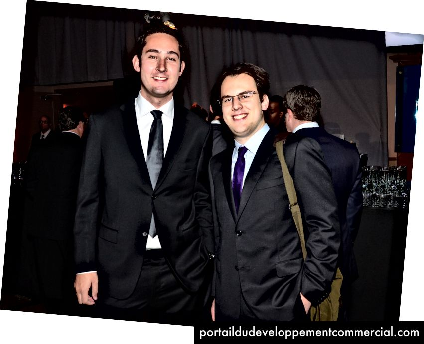 Osnivači Instagrama Kevin Systrom i Mike Krieger. Foto: Ben Gabbe / WireImage za nagrade The Webby