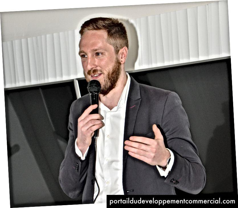 Jasper Deprez prononce son discours