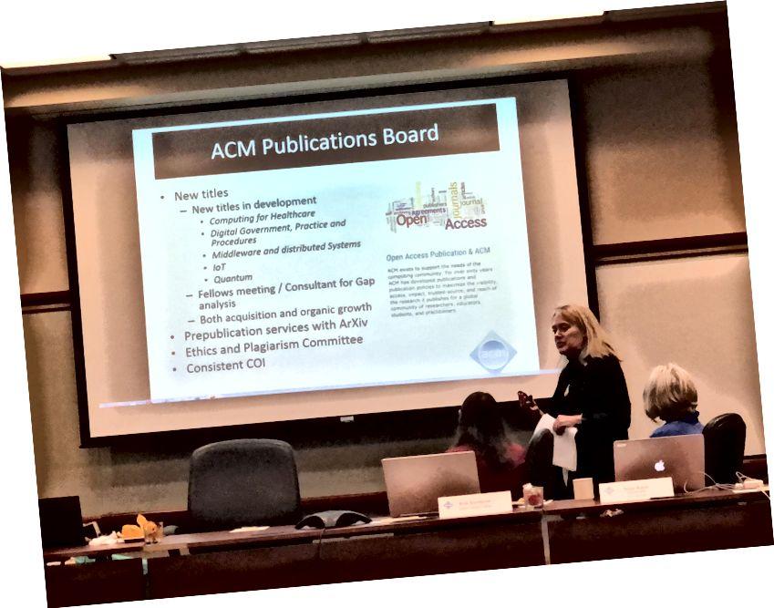 Vicki Hanson med oversigt over ACM-aktiviteter.