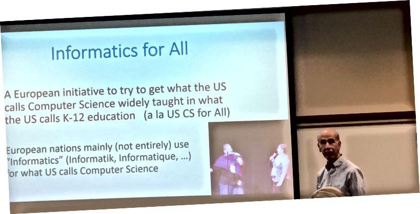 Bobby Schnabel diskuterer informatik for alle.