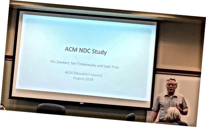 Stu Zweben præsenterer ved den årlige NDC-undersøgelse.