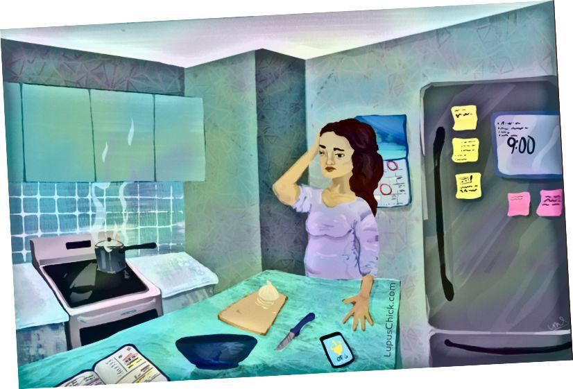 Hjernetåge kan påvirke enkle aktiviteter i dagligdagen for en person, der lever med lupus. LupusChick.com/Michelle Smith, praktikant.