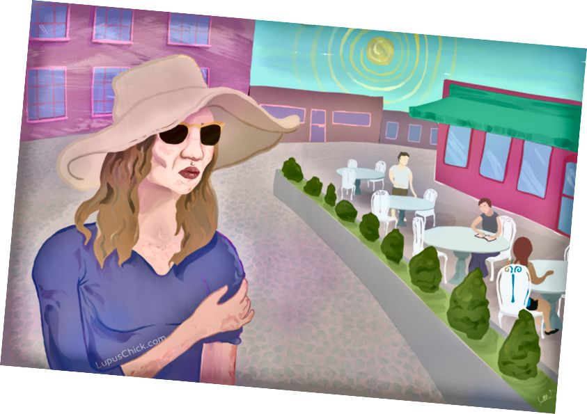Nur eine kurze Zeit in der Sonne kann bei jemandem mit Lupus Fieber, Hautausschläge, Müdigkeit und Mundschmerzen verursachen. LupusChick.com/Michelle Smith, Praktikantin.