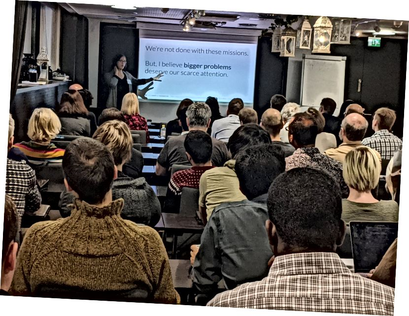 Jeg åbnede min tale ved at sige, at vi ignorerer større problemer. Kredit: Petri Ihantola.