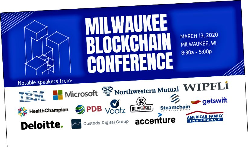 Die Milwaukee Blockchain Conference wird am 13. März mit dem MBC Pitch Competition ausgerichtet