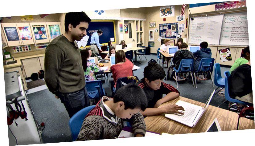 Khan Academy in einem Klassenzimmer (Quelle)