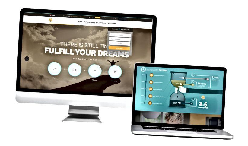 次の例は、価値のあるユーザーエクスペリエンスを促進する複数ページのWebサイトを示しています。