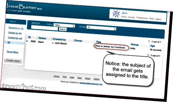 Zdarma Helpdesk systém s IssueBurner a Gmail`
