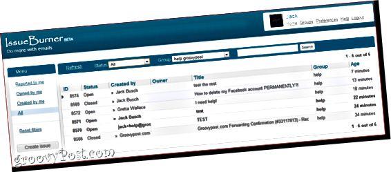 Zdarma Helpdesk systém s IssueBurner a Gmail