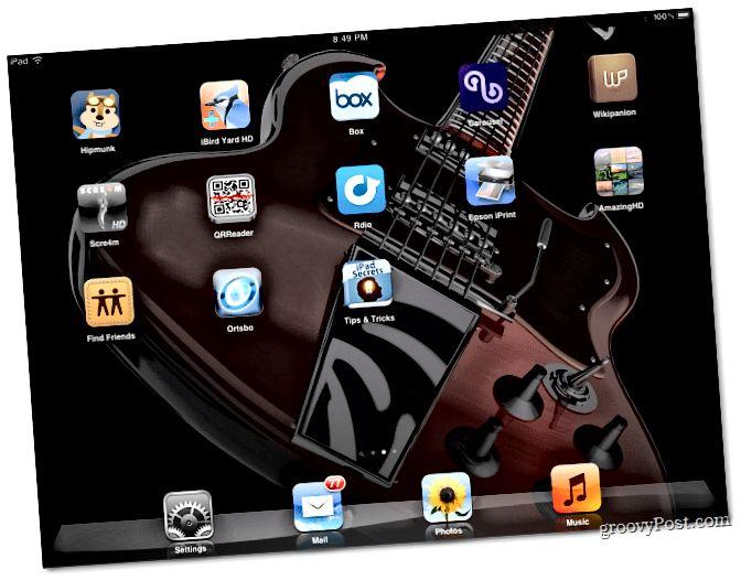 Heimaskjár iPad