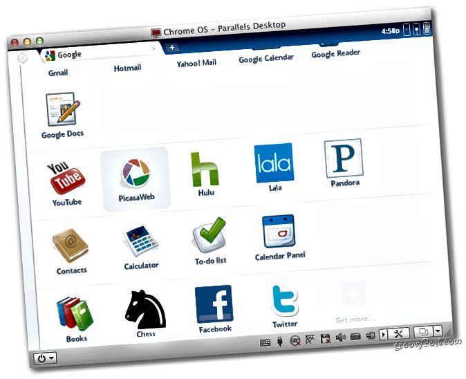 Chrome OS läuft auf Parallelen