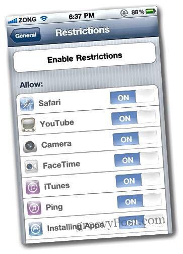 In-App 4-i deaktiv edin