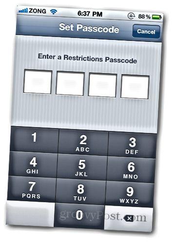 In-App 5-i deaktiv edin