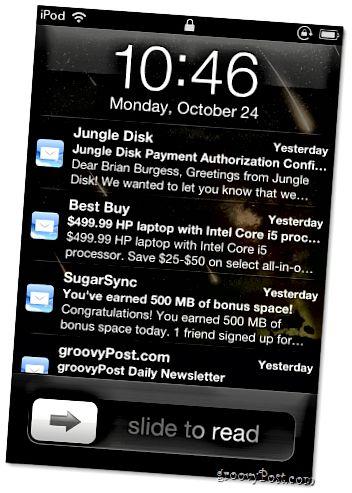 iPod-Sperrbildschirm