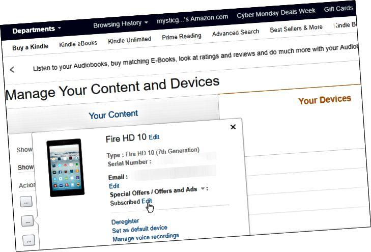 Amazon-laitteesi