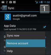uklonite google račun s androida