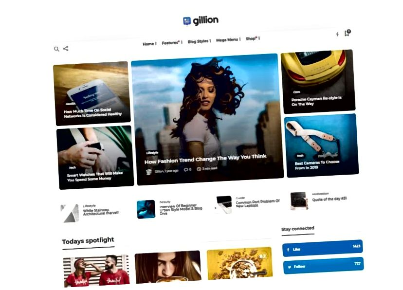 gillion wordpress téma