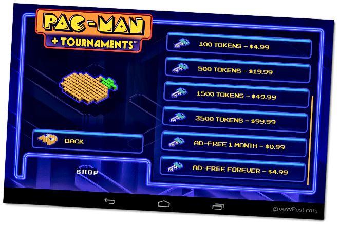 Android PacMan in App Käufe