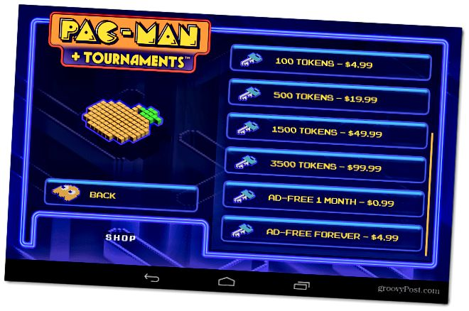 Android PacMan σε αγορές εφαρμογών