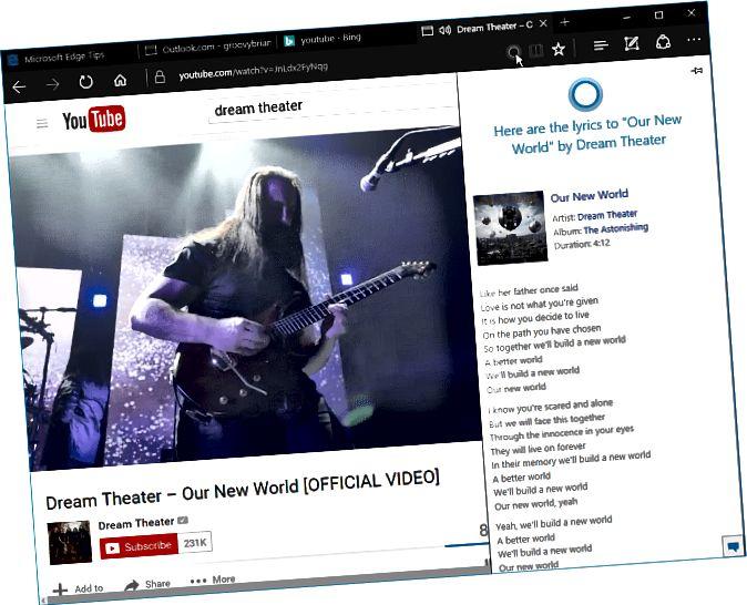 YouTube Cortana