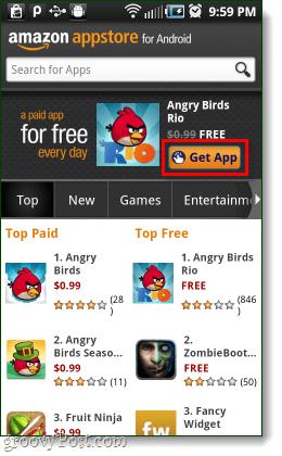 kaupa Android Amazon app