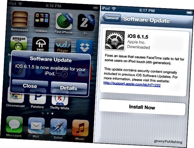 iOS 6.1.5 Yeniləmə
