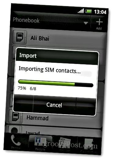 Sim 6 importieren