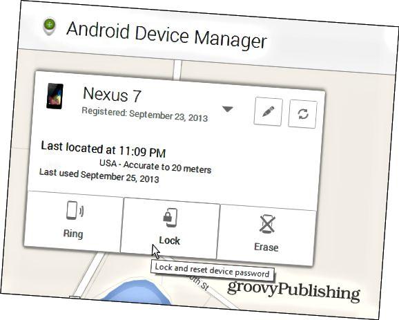 Uzamkněte zařízení Android