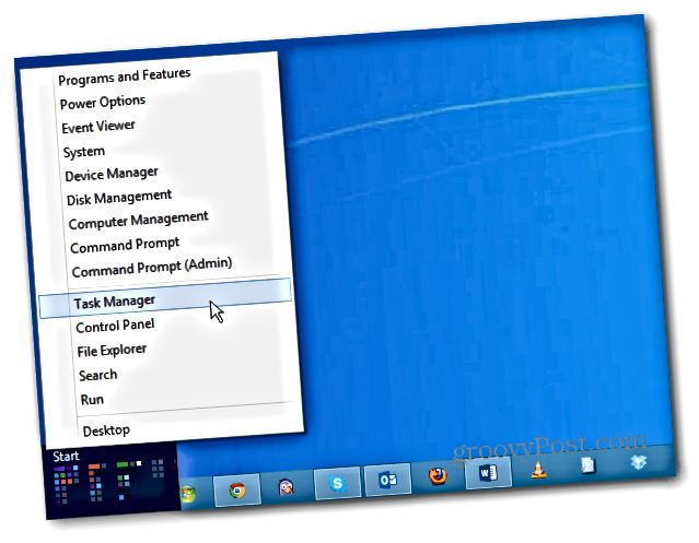 Windows 8 Power User Menu