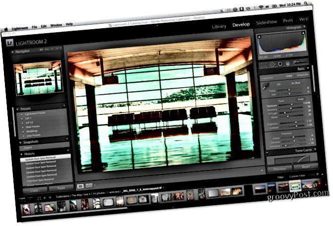 Forstillingarskjár Adobe Lightroom 2