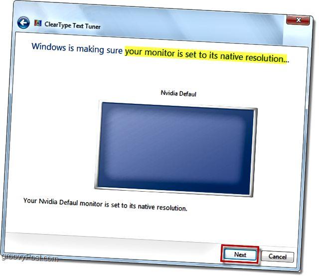 windows 7 monitorunuzun doğruluğuna uyğun olduğundan əmin olun