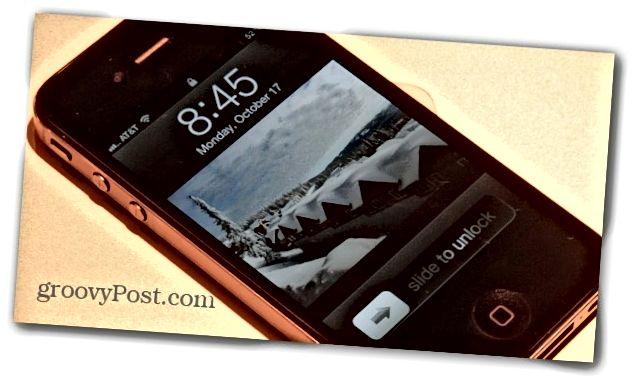 iPhone skjár