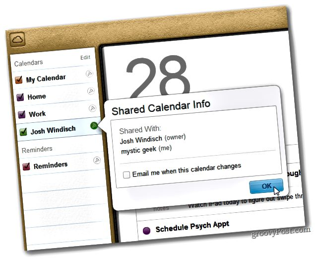 Κοινόχρηστο ημερολόγιο