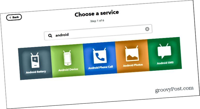 Android-laite ifttt