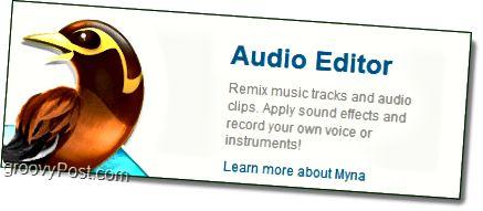myna der Audio-Editor aus der Voliere
