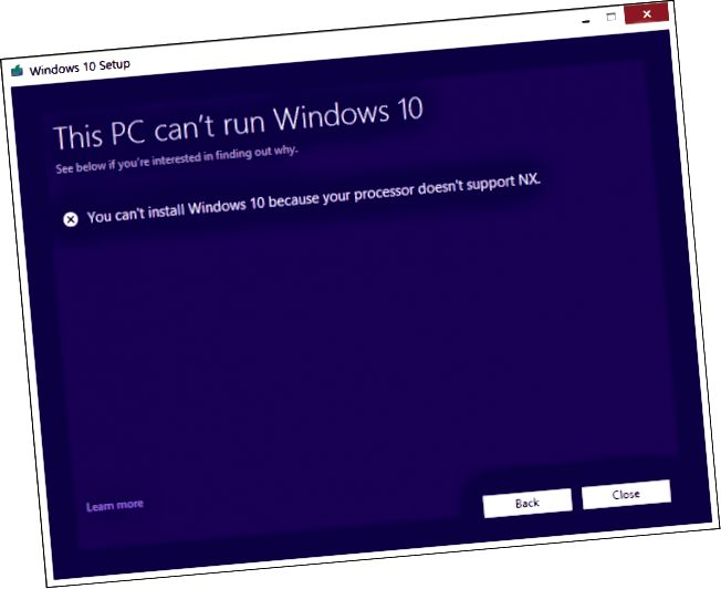 CMPXCHG16B, CompareExchange128, CPU uyğun deyil, Windows 10 Yaradıcıları Yeniləmə, 32-bit, 64-bit, Uyğunluq, Intel, AMD, Core 2 Duo, Coreinfo, Windows 10