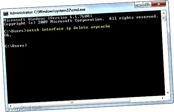 Windows 7-də arp önbelleği