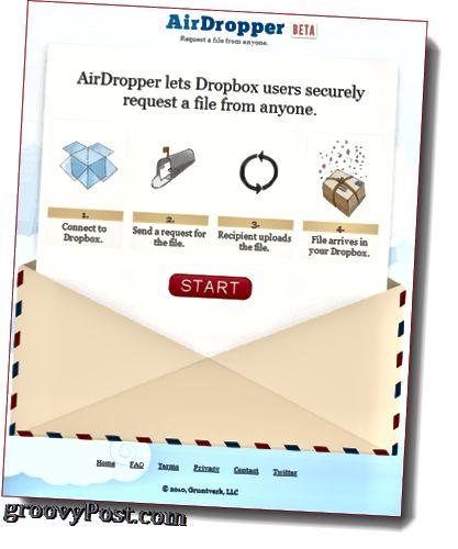 Fəaliyyətdə AirDropper Dropbox eklentisi