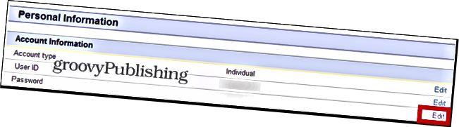 eBay αλλαγή κωδικού πρόσβασης ρυθμίσεις λογαριασμού προσωπικός κωδικός πρόσβασης πληροφοριών