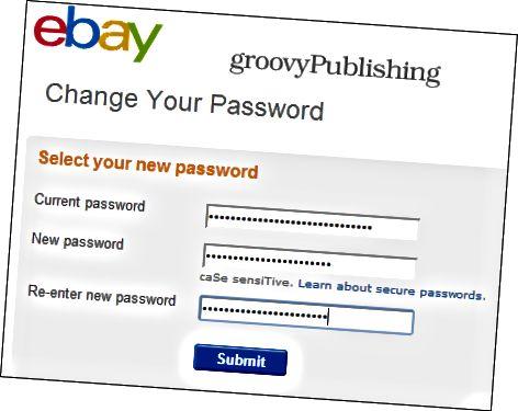 eBay αλλαγή κωδικού πρόσβασης ρυθμίσεις λογαριασμού προσωπικές πληροφορίες κωδικός πρόσβασης 2