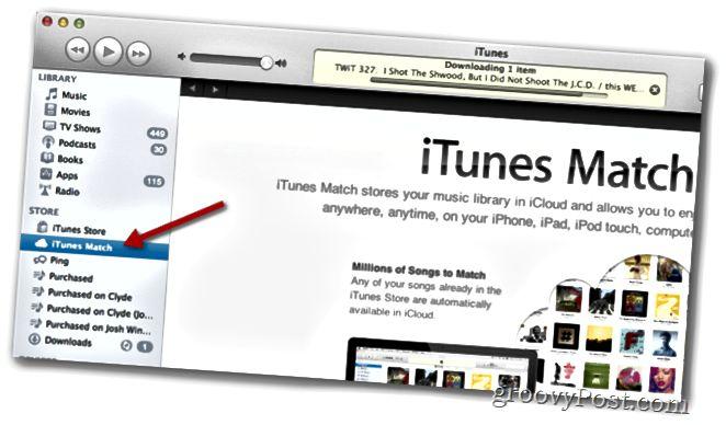 itunes match στο iTunes 10.5.1