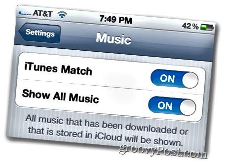 ενεργοποιήστε την αντιστοίχιση iTunes στο iOS