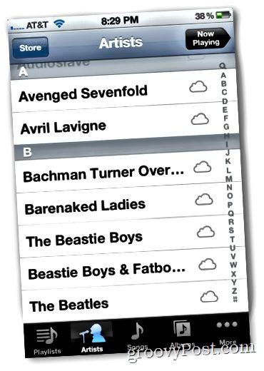 ios icloud iTunes vastaa musiikkipilven kuvaketta