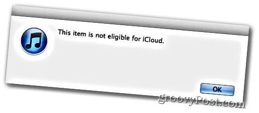 iTunes-ottelu ei kelpaa icloud-musiikkiin